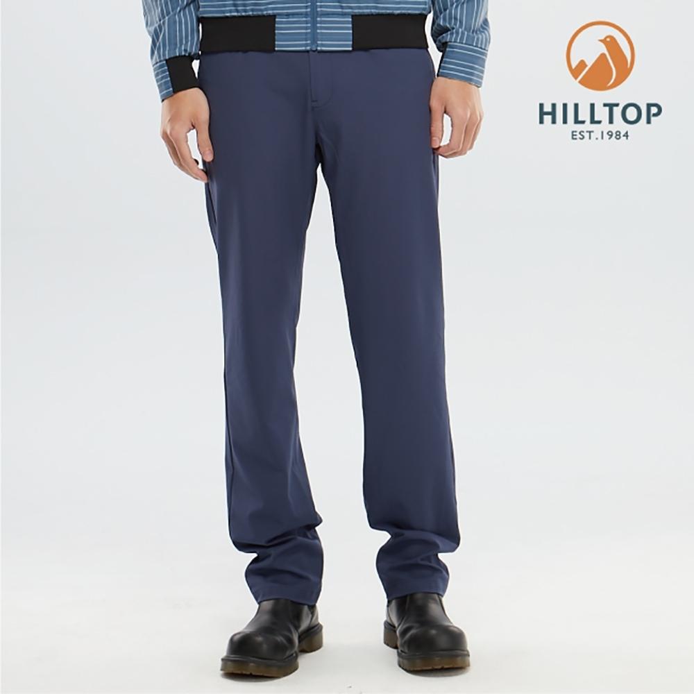 【hilltop山頂鳥】男款吸濕快乾彈性抗UV長褲S07MD1憂鬱藍