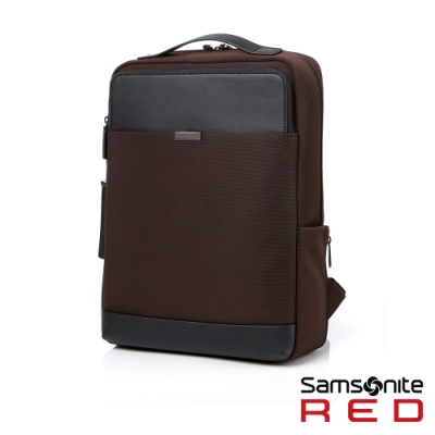 Samsonite RED TILLOU 時尚皮革拼接筆電後背包15.6