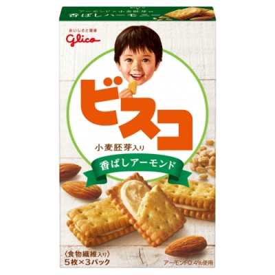Glico 格力高 小麥杏仁夾心餅乾(67.2g)