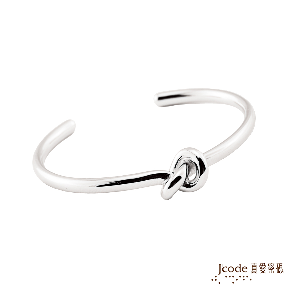 J'code真愛密碼 結伴純銀男手環