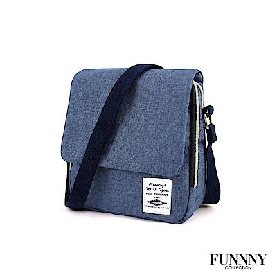 FUNNNY 實用2way雙層帆布肩包系列 米谷 光希 藍
