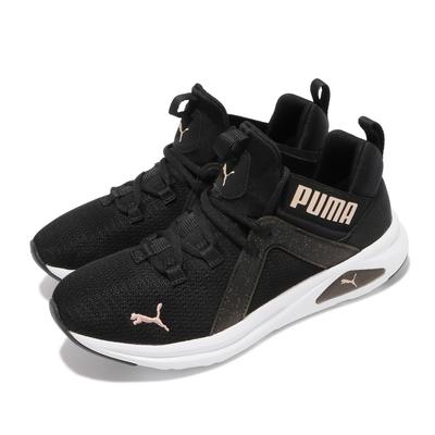 Puma 訓練鞋 Enzo 2 Speckle 襪套式 女鞋 健身 重訓 多功能運動鞋 緩震 黑 白 19437403