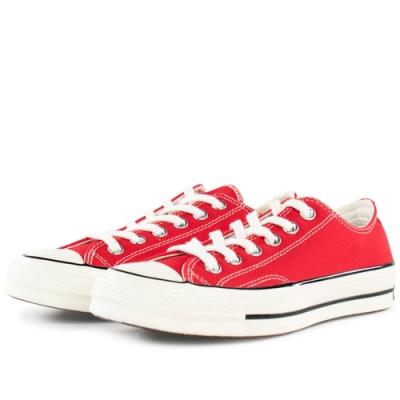 CONVERSE 1970 男女款 低筒帆布鞋-紅 164949C