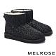 短靴 MELROSE 低調時髦豹紋絨毛厚底短靴-黑 product thumbnail 1