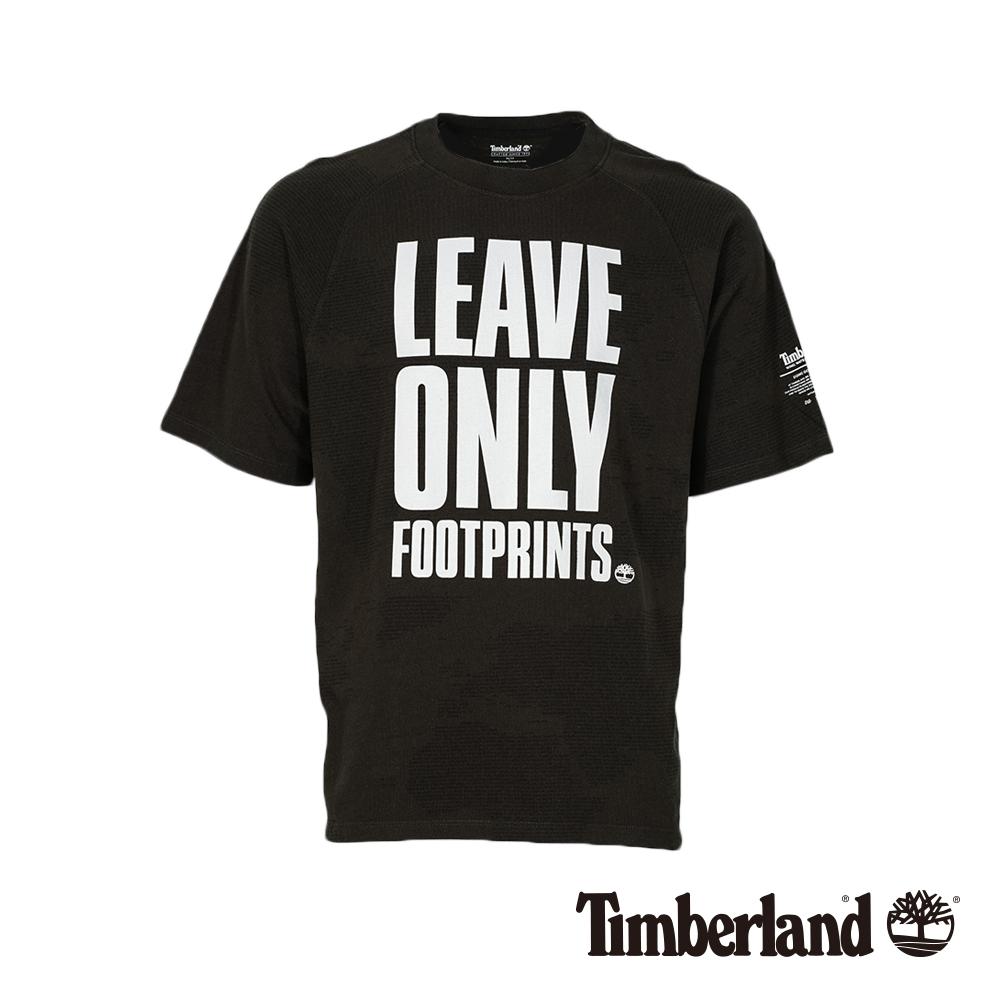 Timberland 男款泥炭色寬鬆剪裁標語短袖T恤|A1X4W