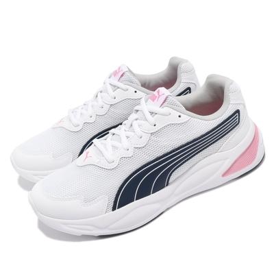 Puma 慢跑鞋 90s Runner Nu Wave 女鞋 基本款 透氣 路跑 運動休閒 穿搭 白 藍 37580103