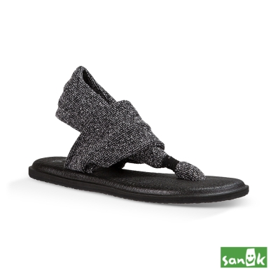 SANUK 混針織瑜珈墊涼鞋-女款(黑色)