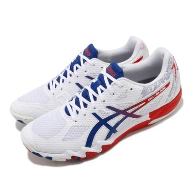 Asics 排羽球鞋 Gel Blade 7 運動 男鞋 亞瑟士 膠底 透氣 舒適 緩震 亞瑟膠 白藍紅 1073A041100