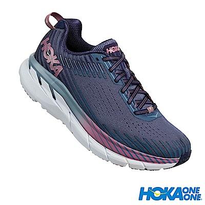 HOKA ONE ONE 女 Clifton 5 路跑鞋 科技網布 藍
