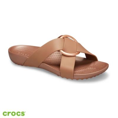 Crocs卡駱馳 (女鞋) 瑟琳娜花漾女士横帶涼拖 206099-854
