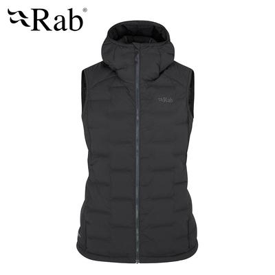 【RAB】Cubit Stretch Down Vest 保暖羽絨連帽背心 女款 烏木灰 #QDB32