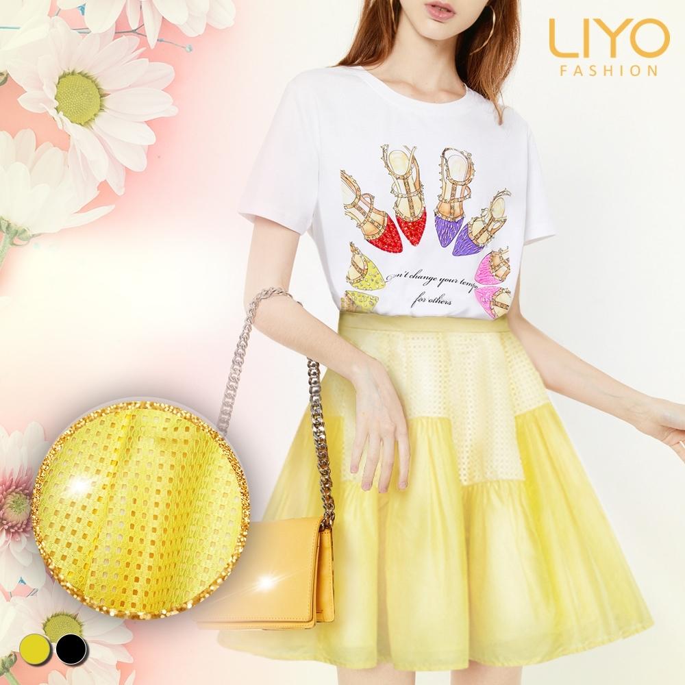 裙子-LIYO理優-甜美風鏤空蕾絲蛋糕裙-O933001