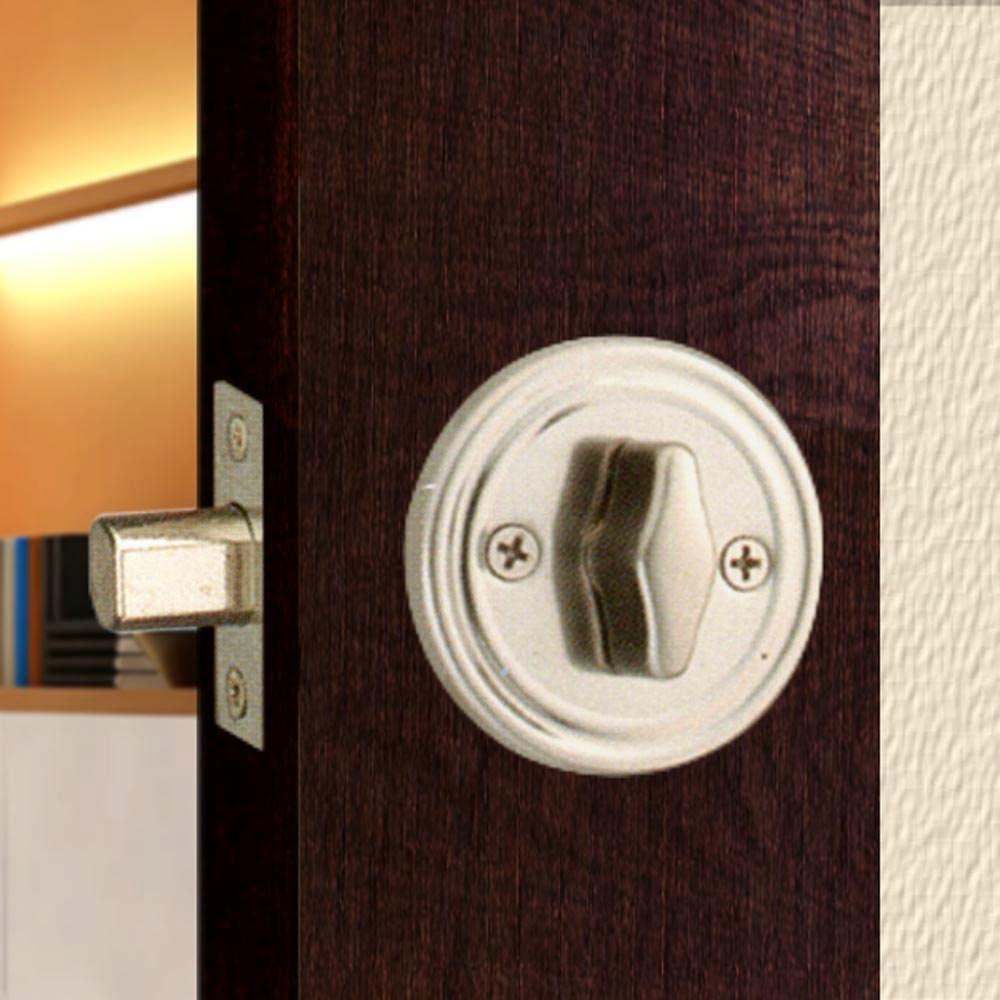 WACH 花旗門鎖 W210-13 不銹鋼簡易型暗閂鎖 無鑰匙 半邊鎖 輔助鎖 補助鎖