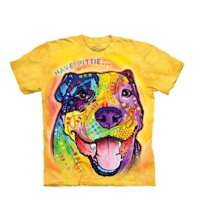 摩達客-美國The Mountain 彩繪羅威納犬臉 純棉環保短袖T恤