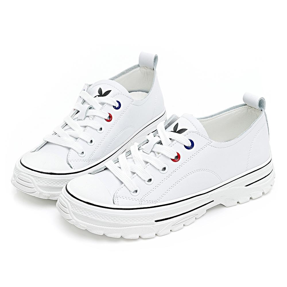 PLAYBOY 柔軟升級 新古典復刻休閒鞋-白-Y680711