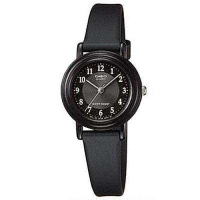 CASIO 簡單實用小錶面指針錶-黑面X數字白(LQ-139AMV-1B3)