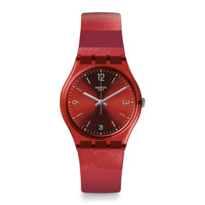 Swatch Gent Standard 原創系列手錶 RUBERALDA 寶石之心-34mm