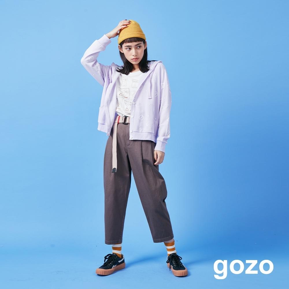 gozo 造型配色織帶打摺褲(二色)