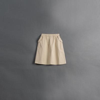 QUEENSHOP 童裝 親子系列口袋側蓋設計長裙 兩色售S/ML 現+預【03021009】