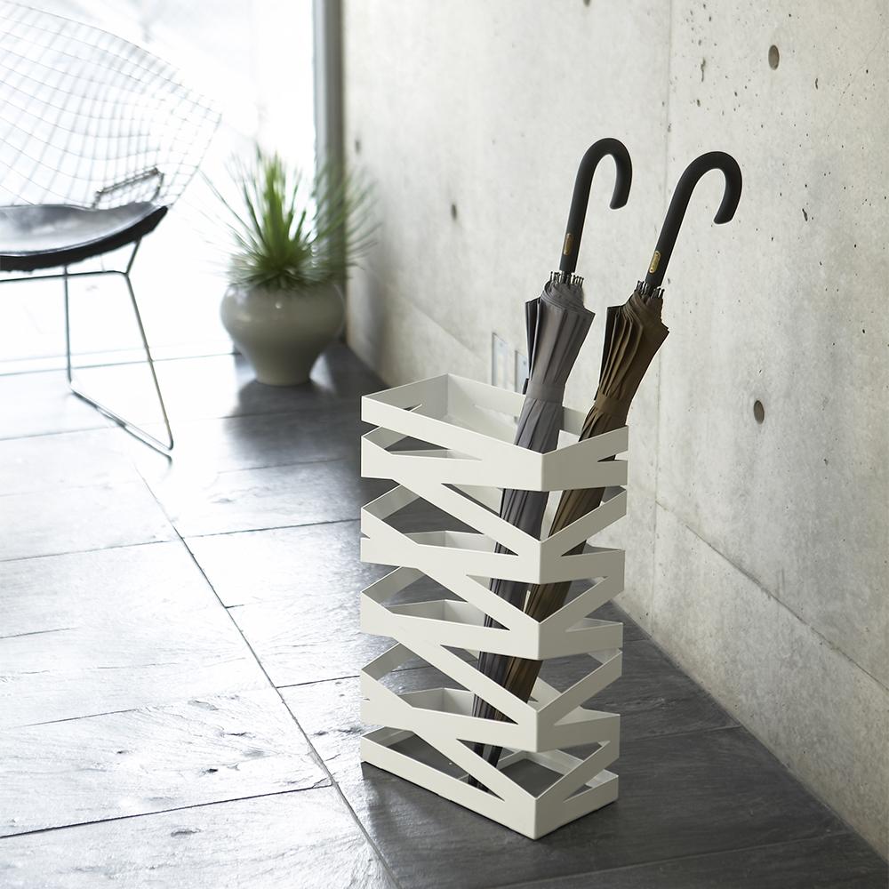 【YAMAZAKI】搖滾造型傘架(加寬型)-白★雨傘筒/雨傘桶
