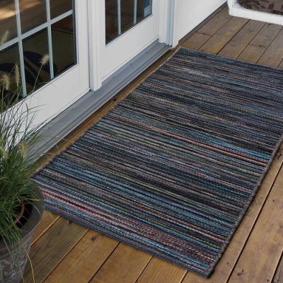 Ambience 比利時Brighton 玄關/門口平織地毯(紫藍 60x110cm)