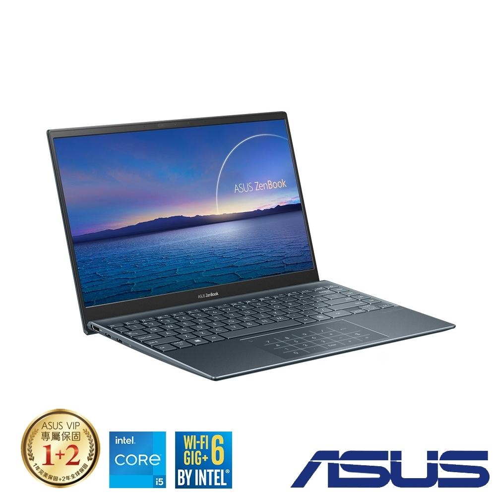 (含微軟365組合) ASUS UX425EA 14吋筆電 (i5-1135G7/16G/512G SSD/ZenBook 14/綠松灰)