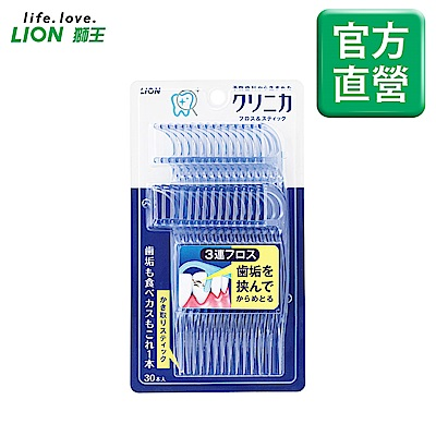 日本獅王LION固齒佳3弦潔勁牙線棒