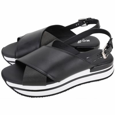 [領券加碼再折600] HOGAN H257 寬帶皮革厚底涼鞋 拖鞋-2款可選