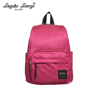Legato Largo 防潑水簡約後背包-桃紅 LT-C2151SPI