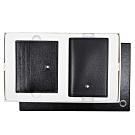 MONTBLANC萬寶龍 大班系列粒面小牛皮名片夾+卡夾禮盒套組 黑色