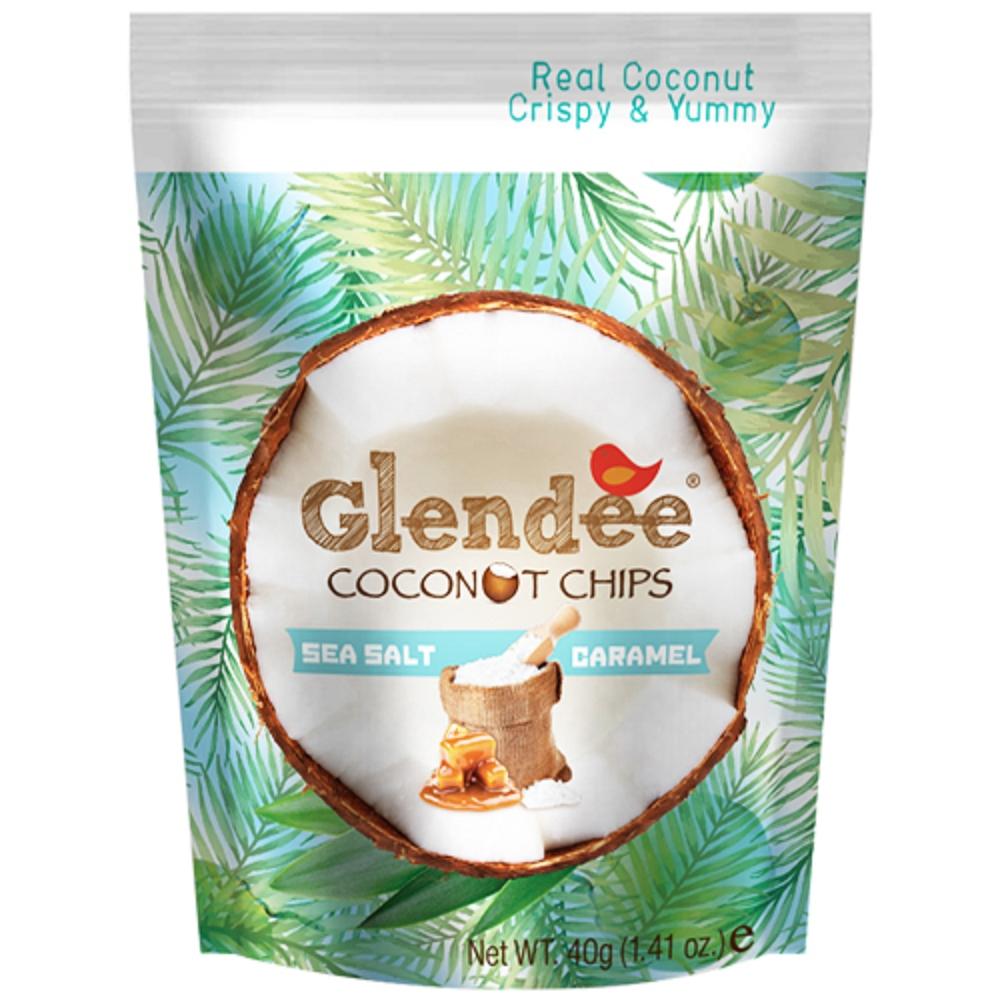 Glendee 椰子脆片-焦糖40g
