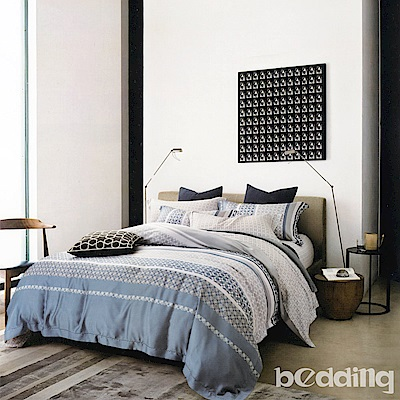 BEDDING-100%天絲萊賽爾-加大薄床包鋪棉兩用被套四件組-淺酌