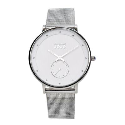 NATURALLY JOJO 極致完美時尚腕錶-低調銀/36mm