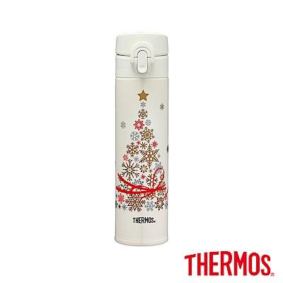 THERMOS膳魔師雪花聖誕樹超輕量不鏽鋼真空保溫瓶0.4L(JNI-402CT-MVAN)