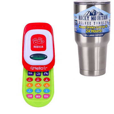 《Story Phone》燈光音效手機造型成長趣味玩具+冰霸杯組
