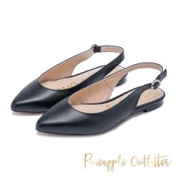 Pineapple Outfitter -繫帶尖頭平底涼鞋-黑色