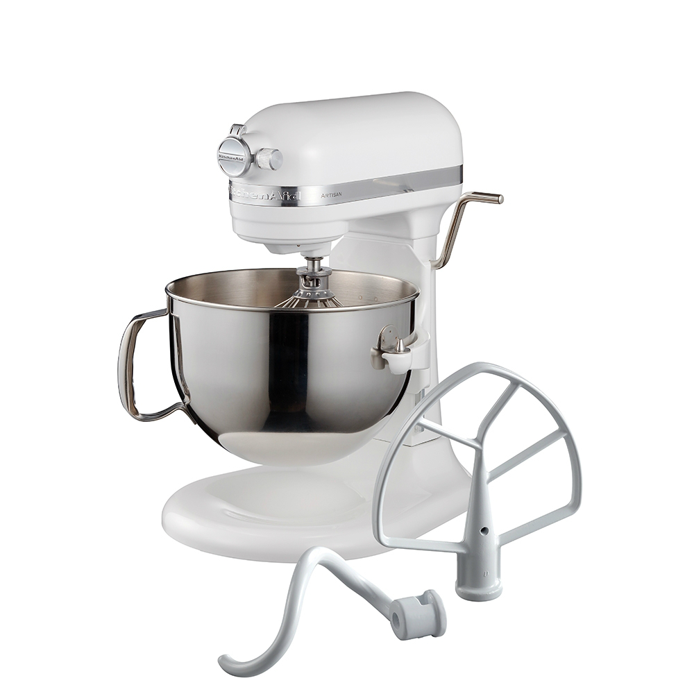 KitchenAid桌上型攪拌機升降型(牛奶白)