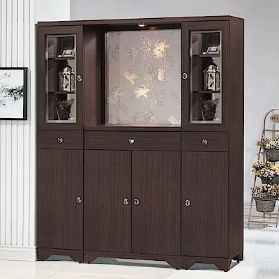 MUNA溫士頓胡桃色5.3尺雙面屏風櫃  160X41.5X191cm