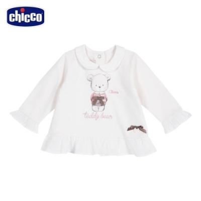 chicco-夢幻艾瑪-荷葉下擺有領長袖上衣