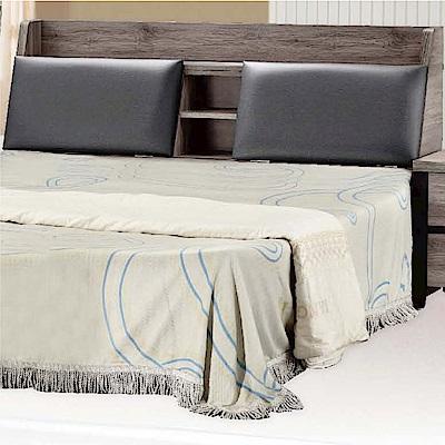 綠活居 安琪時尚5尺皮革雙人床頭箱(不含床底)-154x29x93cm免組