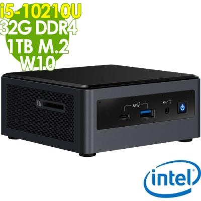 Intel 迷你無線電腦 NUC i5-10210U/32G/M.2 1TB/W10