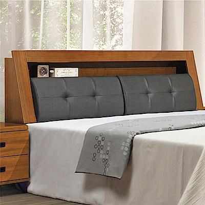 文創集 瑞克5尺耐磨皮革雙人床頭箱(二色+不含床底)-153x29x101cm免組