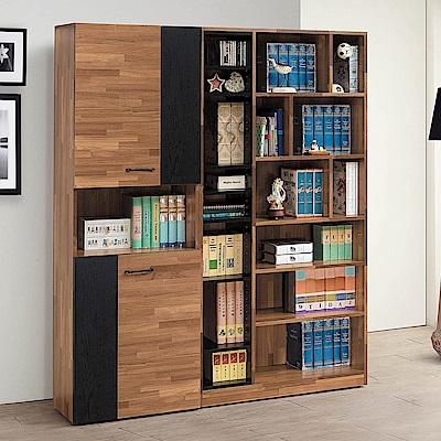 H&D 集層柚木5尺書櫥組