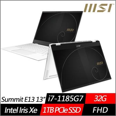 MSI微星 Summit E13 Flip Evo A11MT-033TW 13.4吋翻轉商務筆電(i7-1185G7/32G/1TB PCIe SSD/Win10Pro)