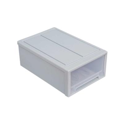 日式防塵防潮抽屜收納箱-堆疊三件組(5L+8L+36L)-1組3入