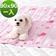 奶油獅-雪花樂園-長效型降6度涼感冰砂冰涼墊(90x90cm)大型寵物涼墊-粉色(一入) product thumbnail 1