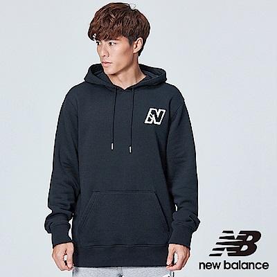 New Balance LOGO連帽刷毛長袖上衣 MT83583BK 中性 黑色