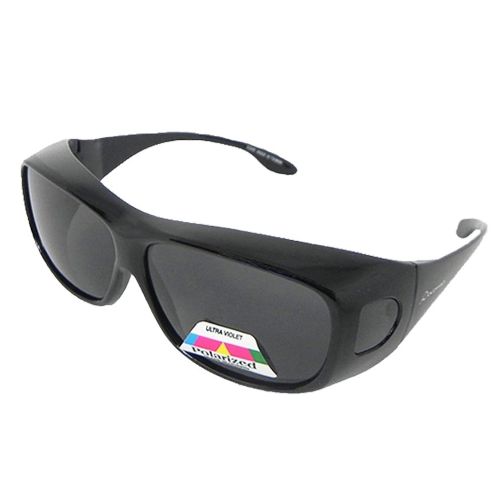 【Docomo】多功能加大包覆型Polarized偏光太陽眼鏡 輕量設計款 近視族必備