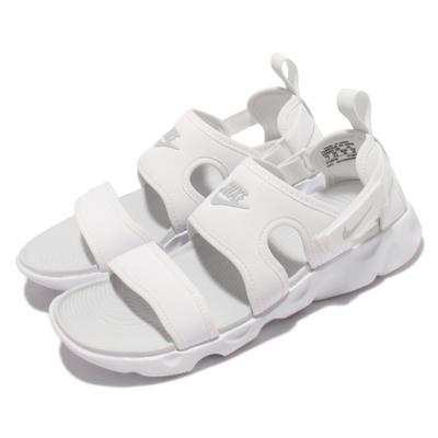Nike 涼鞋 Owaysis Sandal 套腳 女鞋 海外限定 輕便 舒適 魔鬼氈 夏日 穿搭 白 CK9283-100