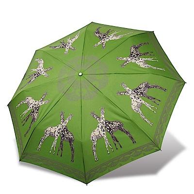 RAINSTORY 長頸鹿抗UV雙人自動傘(青綠)